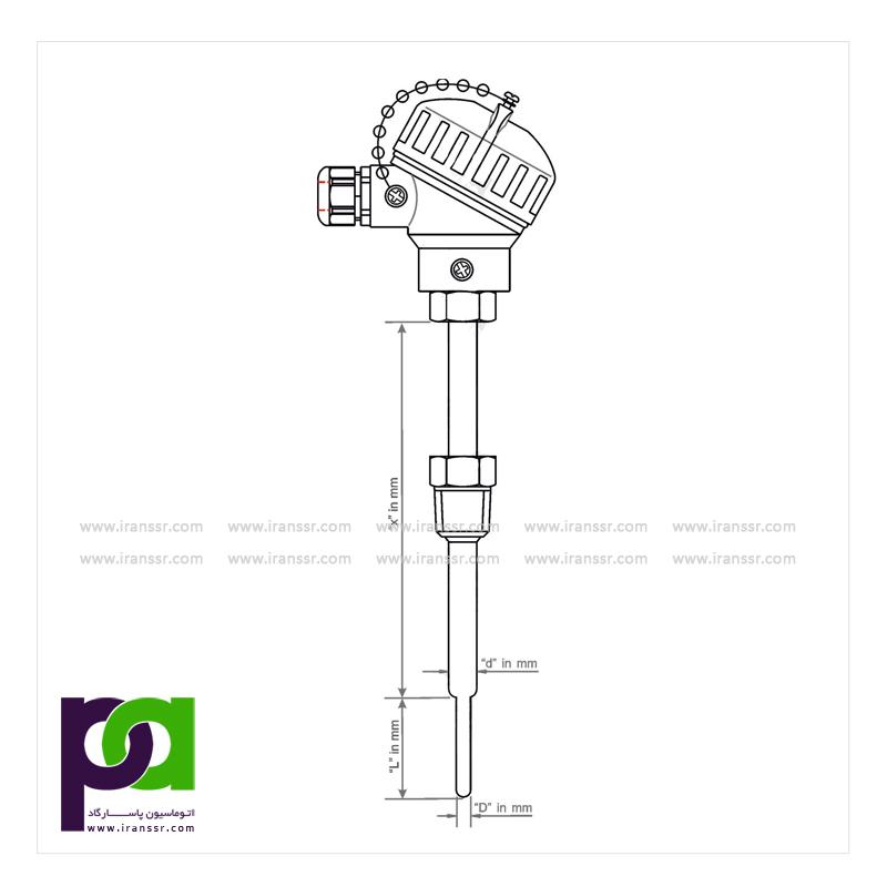 ترموکوپل با اتصال مکانیکی و با زمان پاسخ دهی سریع