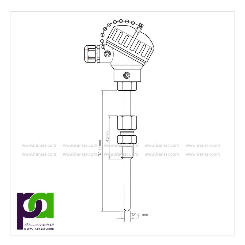 ترموکوپل با اتصال مکانیکی قابل تنظیم