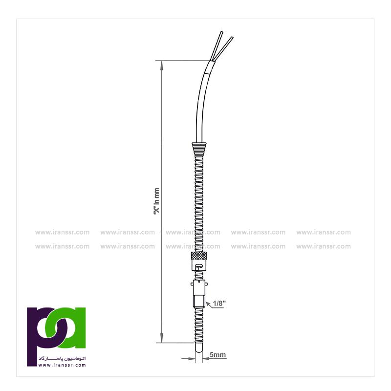 ترموکوپل با سیم رابط و با دنده قابل تنظیم