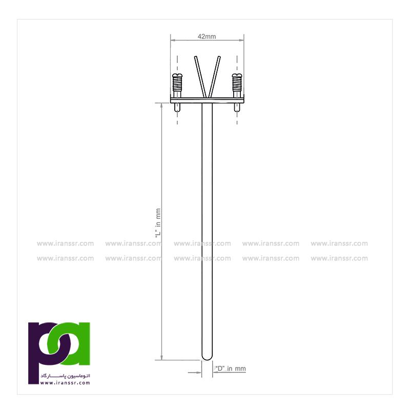 ترموکوپل عایق شده - ترموکوپل داخلی - مدل MI5004 - انواع ترموکوپل - فروش ترموکوپل - خرید ترموکوپل