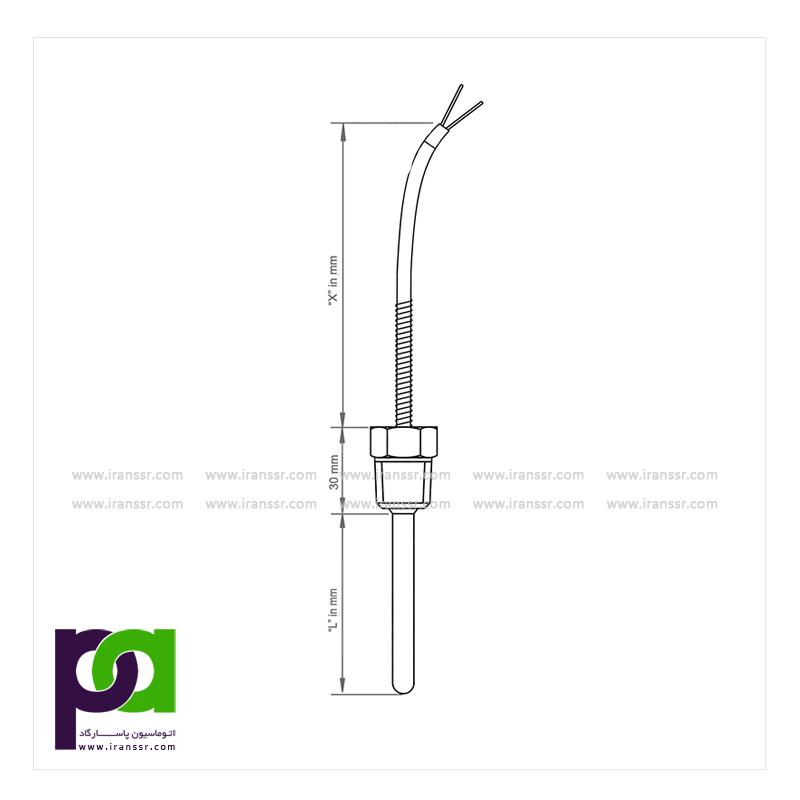 SE1055 - ترموکوپل با سیم رابط و اتصال مکانیکی - ترموکوپل - خرید ترموکوپل